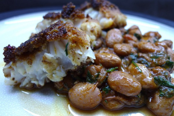 almond-crusted fish