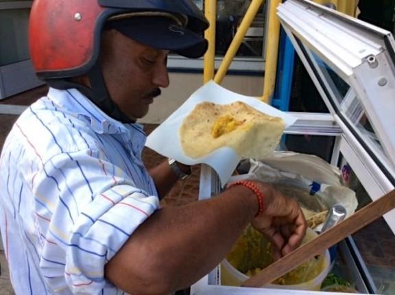 Dholl Puri Vendor in Mauritius