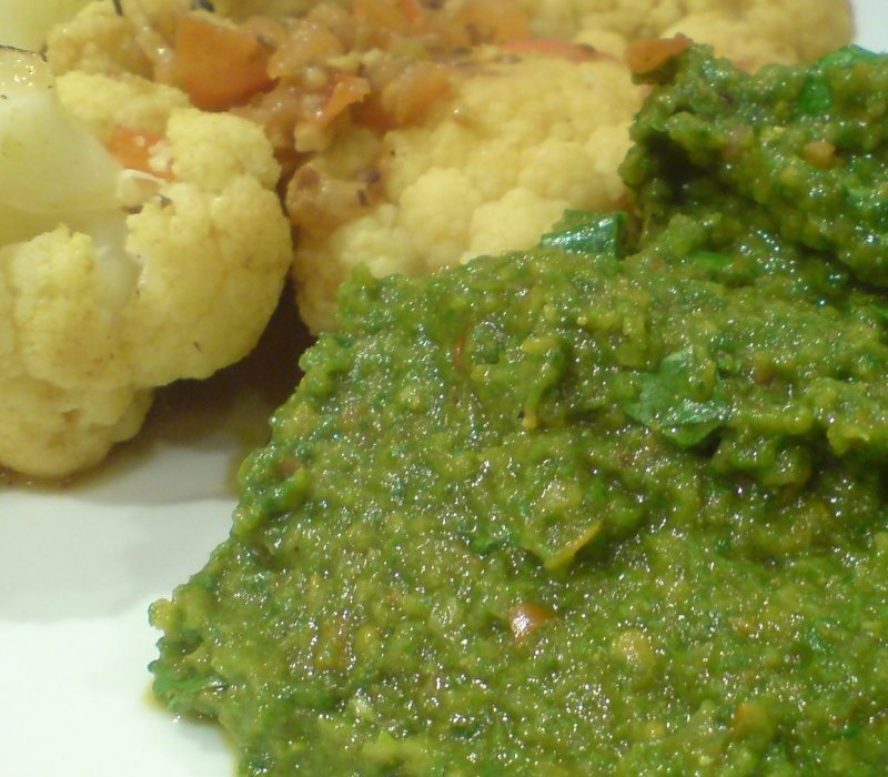 Split Pea and Spinach Mash