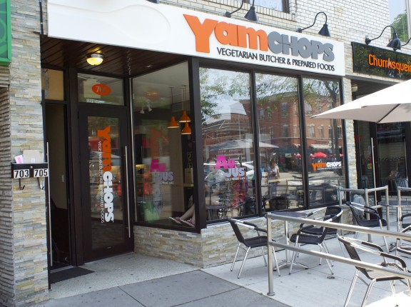 YamChops storefront, at 705 College St, Toronto