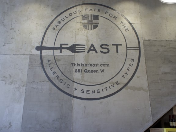 FEAST logo, interior