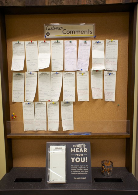 Customer Comments Board