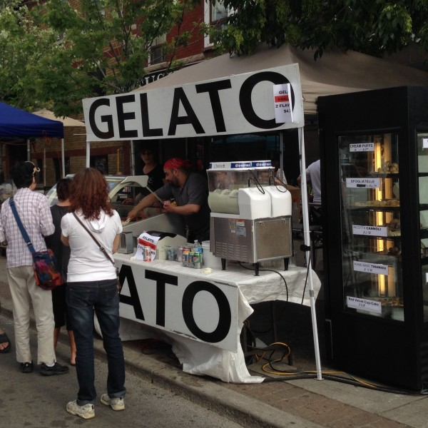 Gelato stand