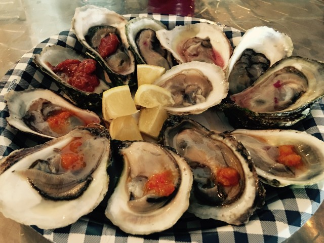 delicious malpeque oysters from PEI