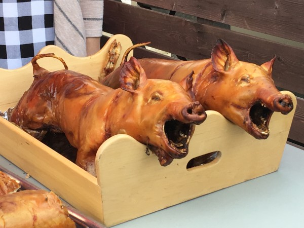 Roasted sucklings pigs
