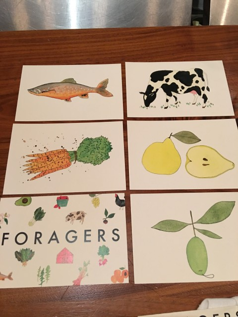 Foragers postcards