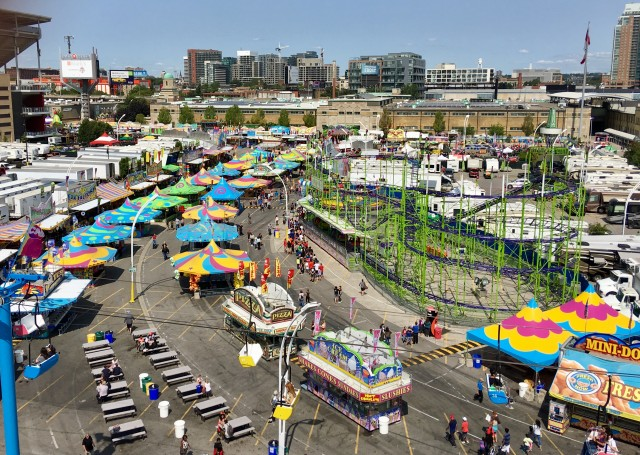 CNE View from Ferris Wheel toronto carnival fair
