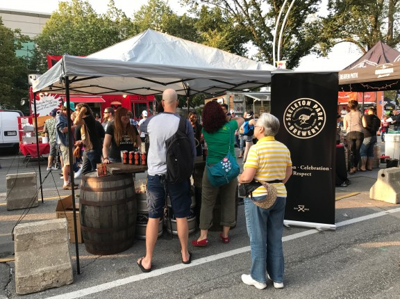 Skeleton Park Brewery beer tent toronto cne