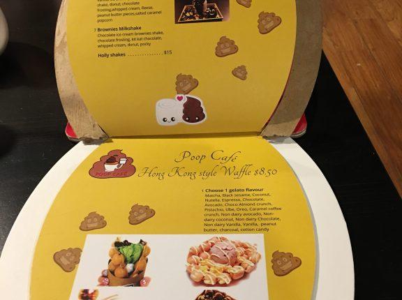 poop cafe toronto menu hong kong waffles