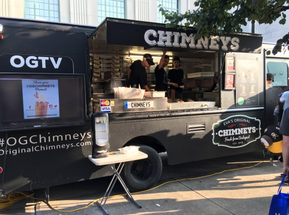 cne food truck eva's chimneys toronto