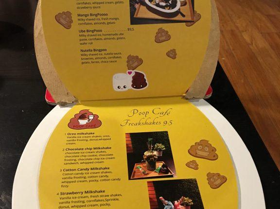 poop cafe dessert milk shakes toronto menu