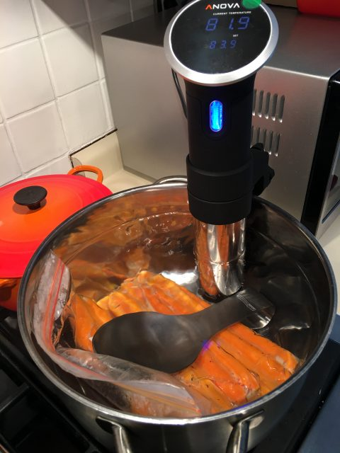 carrots anova sous vide pot water