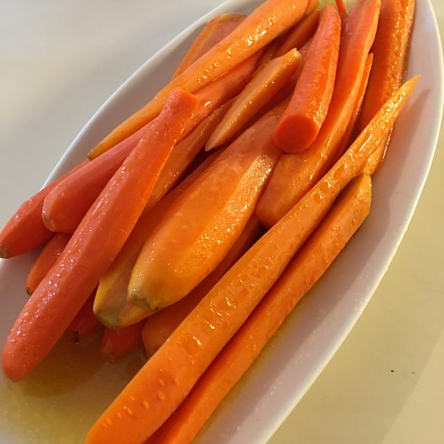 platter of carrots sous vide butter