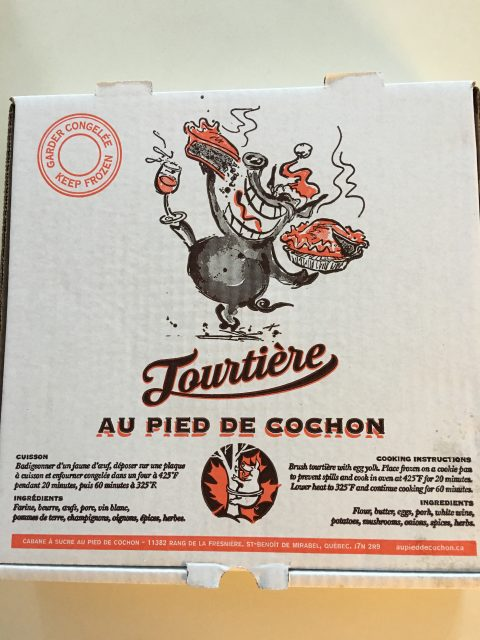 tourtière box package frozen PDC