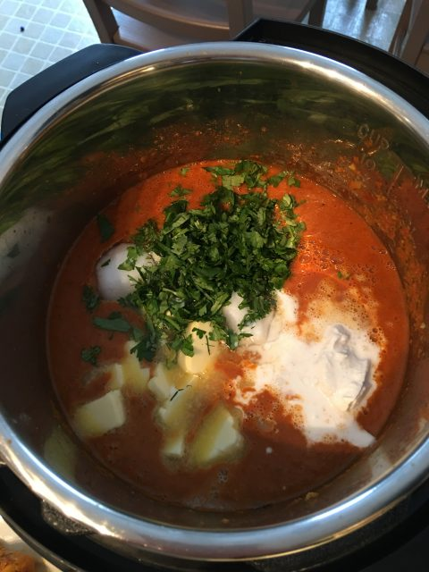 butter chicken sauce ingredients butter tomato cilantro coconut milk