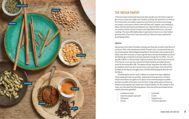 example book page instant pot indian recipe book