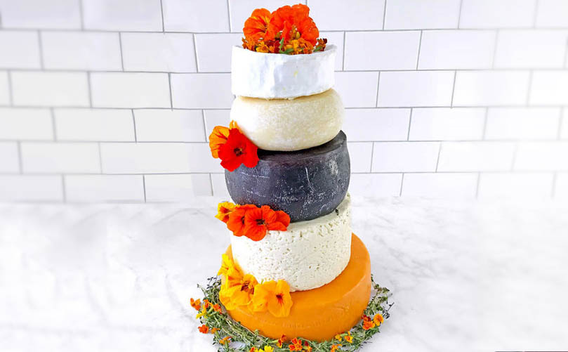 Costco cheese wedding cake