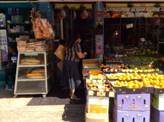 Fruit and Bread Stall in Mauritius