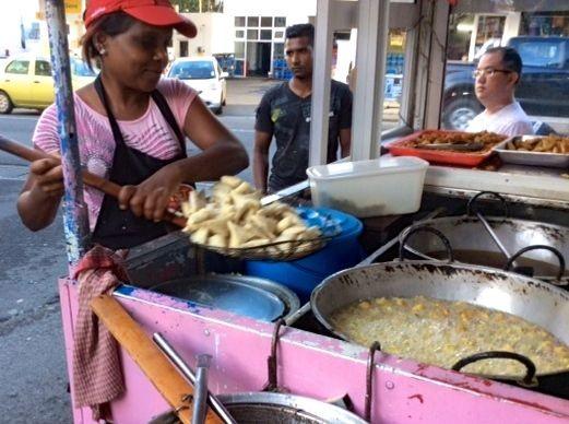 Samoosa Vendor in Mauritius