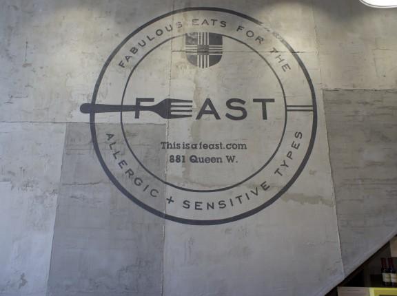 FEAST logo, interior