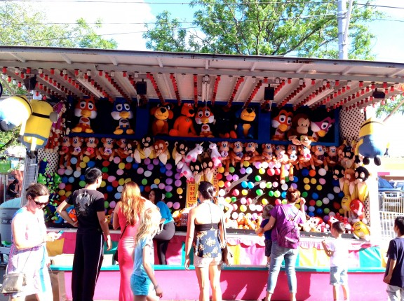 carnival fair toronto college little italy fun