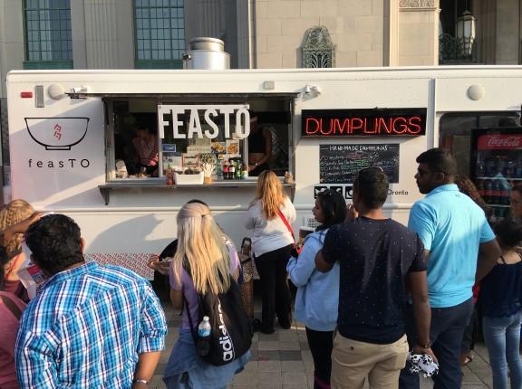Feasto food truck cne toronto dumplinggs