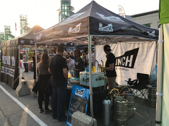 Side Launch Brewing Company tent beer cne toronto