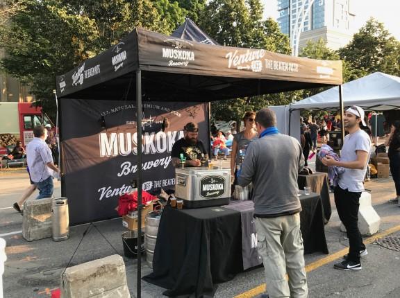 Muskoka Brewery beer tent cne toronto